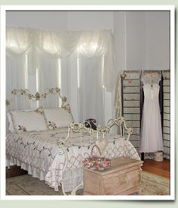 Bridal Room at Village Street Bed and Breakfast in Woodville, Texas.